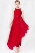 Goddess Dress, Irregular Hem Dress, Halter Chiffon Dress