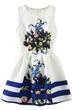 Fashion Dress, Sweet Dress, Floral Dress, Pleated Dress, Skater Dress, Tank Dress