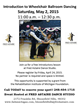 Wheelchair Dance Workshop Planned for May 2nd