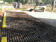 Soil3 Organic Compost spread over Drivable Grass pavers at Super-Sod of Jacksonville, FL