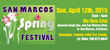 2015 San Marcos Spring Festival Contact Information