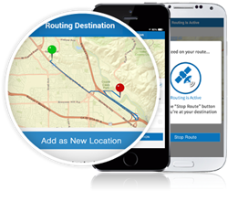 Routing Feature for Asset Tracking