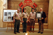 Left to right: T'kope Kwiskwis Lodge Advisor Mike Gaylord, Arrowsmen Murphy Bush and Trent Allison with Chris Finn from the Friends of L. Ron Hubbard Foundation.