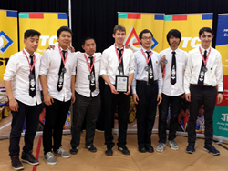 The team came in second at the FIRST Tech Challenge Super Regionals in Scranton, PA