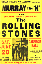 Rolling Stones boxing style concert posters printed between 1964-1966