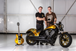 Buffalo Chip President, Rod Woodruff and premier bike customizer, Cory Ness show off the 2015 Sturgis Buffalo Chip's Sturgis Rider Sweepstakes prize package.