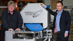 Titan Slicing Systems design manager Jonathan Eyles, left, and chief executive Sean Marr.
