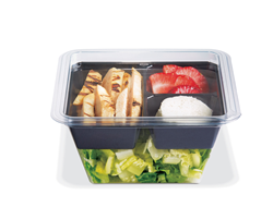 Placon GoCubes Deli Plastic Food Packaging, Customizable Plastic Packaging Containers, Square Plastic Food Packaging Containers Bases