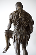 The Illustrated Man monumental bronze sculpture by Christopher Slatoff