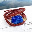 Women's Bohemian Druzy Wrap Bracelet from Hope Anchored Designs.