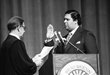 The swearing in of Maynard Jackson, Atlanta's first African American mayor