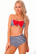 Sailor - High Wast Bottom Swimsuite