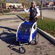 Taylor Lancaster with his new buggy