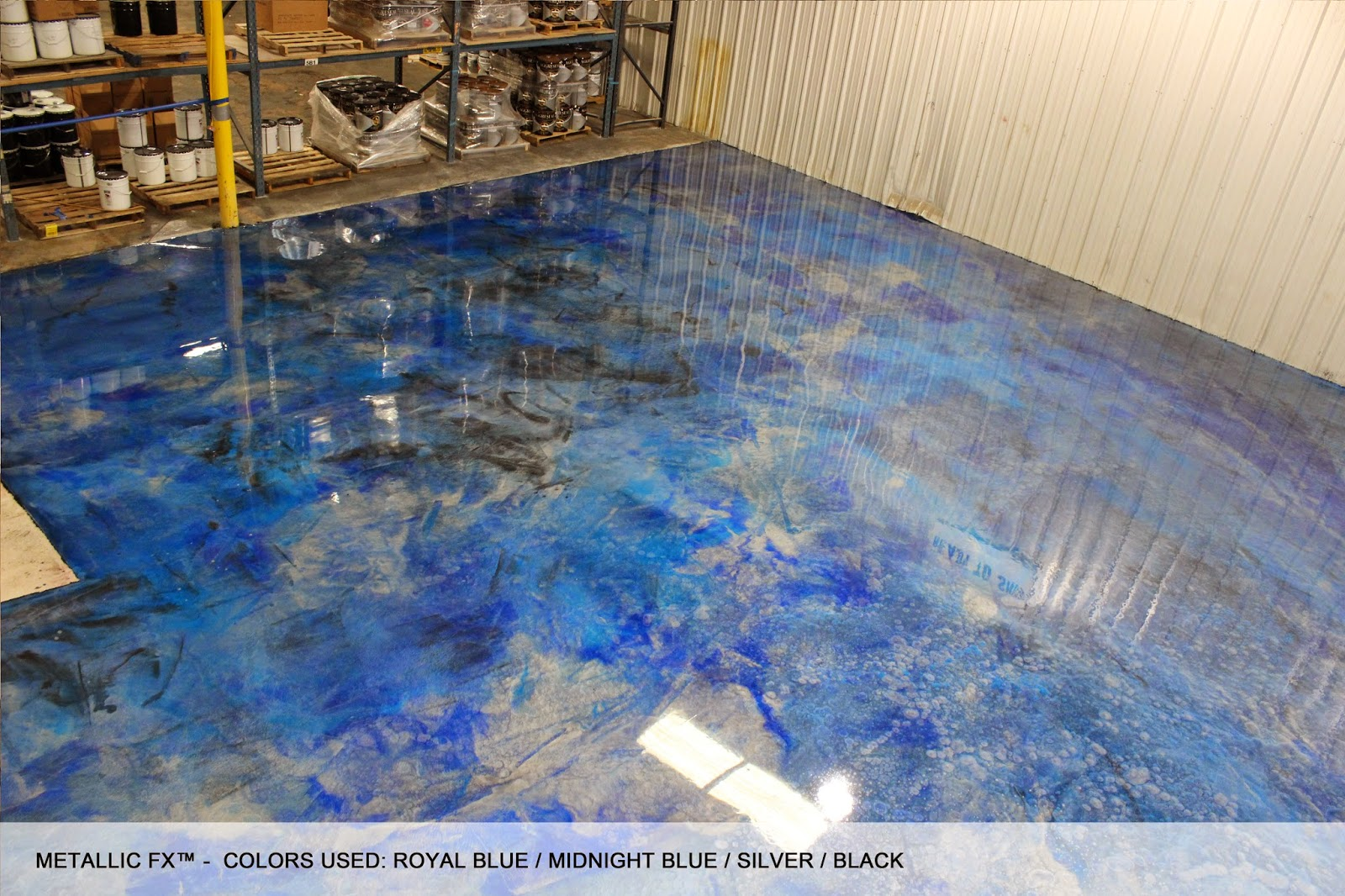 Surfkoat unveils new metallic epoxy concrete floor for Painting a concrete floor