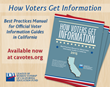 voter guides, voting, California, elections, voter turnout, participation, electorate