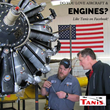 Dirk Ellis of Tanis Aircraft inspects an aircraft engine preheat system.