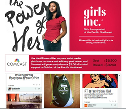 #PowerofHer Social Mashup Page by CafeGive Social for Girls Inc. PNW