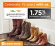 Generations FCU Launches 75th Anniversary Celebrations with Certificate Campaign