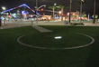 The Civitas design for new Lane Field Park in San Diego references the site's historic baseball past, including pitcher's mound and base paths highlighted with in-ground LEDs at night.