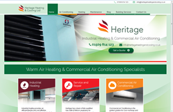 Heritage Heating's new site
