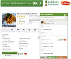 digital advertising supermarket shopping list