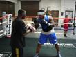 "Jeff Mayweather training K-1 superstar Dewey ""Black Kobra"" Cooper"