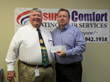 Assured Comfort owner Jerry with Julian Carter, CEO of CCI.