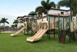 Get kids outside with a backyard playground featuring Playground Grass