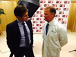 Dr. Oz talking with Florida Hospital Wesley Chapel's Dr. Stephen Ratterman