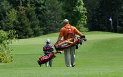 Father and Son at Crystal Mountain on the Betsie Valley Course