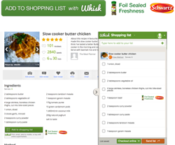 digital advertising grocery shopping list