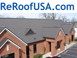 Metal Roofing Repair Company in Tulsa Oklahoma Offers Quick Repair Or Replacement With Onsite Roof Panel Formation For Metal Roof Damage From Hail Storm - By ReRoof USA