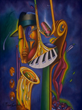 "Seabreeze Jazz Festival Poster Art by J. Michael Howard titled ""Body and Soul"""