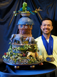 Creative Director of Triolo's Bakery wins Grand Prize at National Capital Area Cake Show.