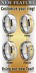 Custom Tungsten Wedding Rings