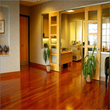 Hardwood flooring buff and coat