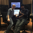 Left to right: Armin van Buuren and Mr. Probz in the recording studio, courtesy Armada Music
