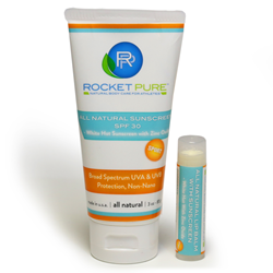 Rocket Pure All Natural Sunscreen made with Zinc Oxide
