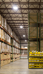 VOLT® Lighting's warehouse with instant-on motion-activated LED High Bays