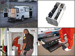 Havis Prisoner Transport Inserts are designed specifically for a variety of vans, and are available in 80-, 100- and 120-inch lengths with one, two or three compartments.