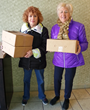 Senior Volunteers Deliver Meals and Cheer to Jewish Family Service Meals on Wheels Recipients; Dynamic Duo Say You're Never too Old to Make a Difference