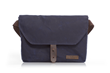 The Vitesse cycling musette—navy waxed canvas with flap