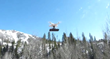 Moving Mountains' airborne drone, with Steamboat Ski Area in the background.