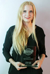 AuPairCare au pair Lena wins Au Pair of the Year award.