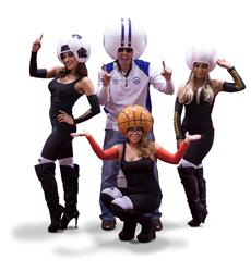 Wreckin' Ball Helmets for Football, Baseball, Basketball & Soccer Sports Fans