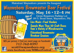 Beer, music, and food make for a wonderful Spring Saturday--May 16.