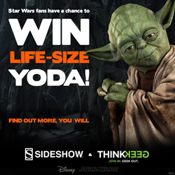 Life-Size Yoda Giveaway from Sideshow Collectibles and ThinkGeek