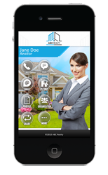 A Customized SavvyCard for Agents™ Mobile Real Estate Application.