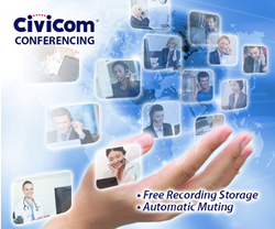 Civicom Conferencing Outshines Competition in Free Recording Storage and Automatic Muting