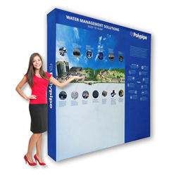 Portable Backdrop for Trade Show Display